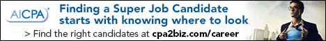 AICPA Finding a super job candidate starts with knowing where to look. Find the right candidates at cpa2biz.com/careers