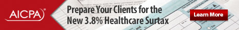 AICPA Prepare your clients for the new 3.8% Healthcare Surtax