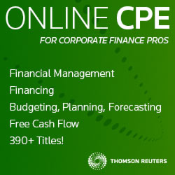 Online CPE for corporate finance pros. 440+ titles! Thomson Reuters.