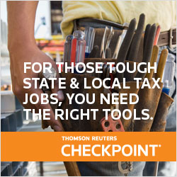 Thomson Reuters Checkpoint - State and Local Tax State & local taxation is complex - and you need the right tools to tackle the tough jobs that come up every day. Call 800.950.1216