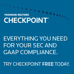Thomson Reuters Checkpoint. Try Checkpoint FREE today.