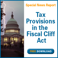 AICPA Special News Report  Tax provisions in the Fiscal Cliff Act