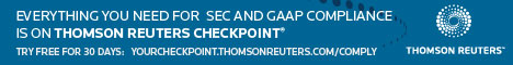 Try it FREE for 30 days. Everything you need for SEC and GAAP compliance is on Thomson Reuters Checkpoint