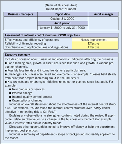 Business Internal Audit Examples  Audit Findings Template
