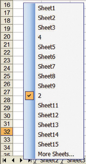 Display Multiple Excel Worksheet Tabs