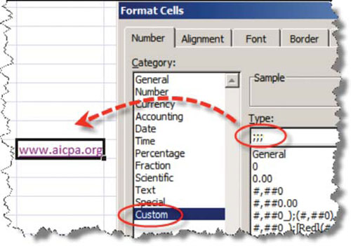The Other Way Is To Format Cell With Three Semicolons Which Renders Everything In Invisible See Screenshot Below