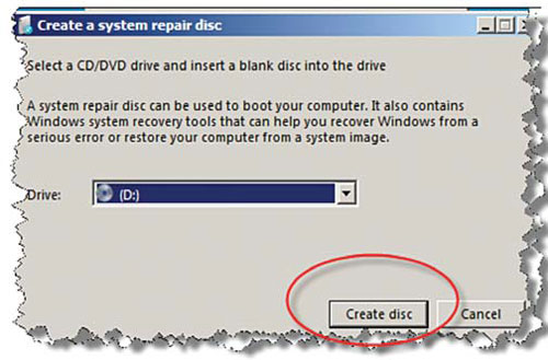 Create Your Own Emergency System Repair Disk