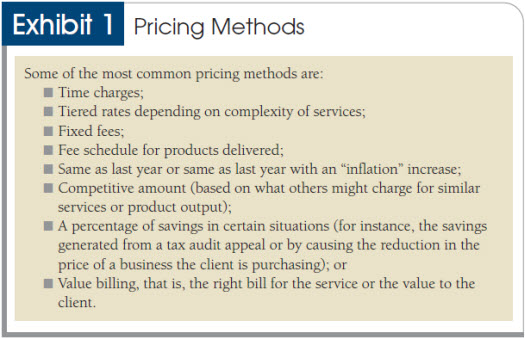 Pricing Billing And Collecting Fees