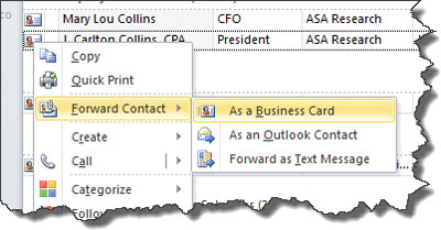 The paperless business card addresses of your intended recipients add a subject and message as you normally would then send outlook creates the attached electronic business card colourmoves