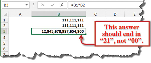 Bugged by Excel's calculation errors