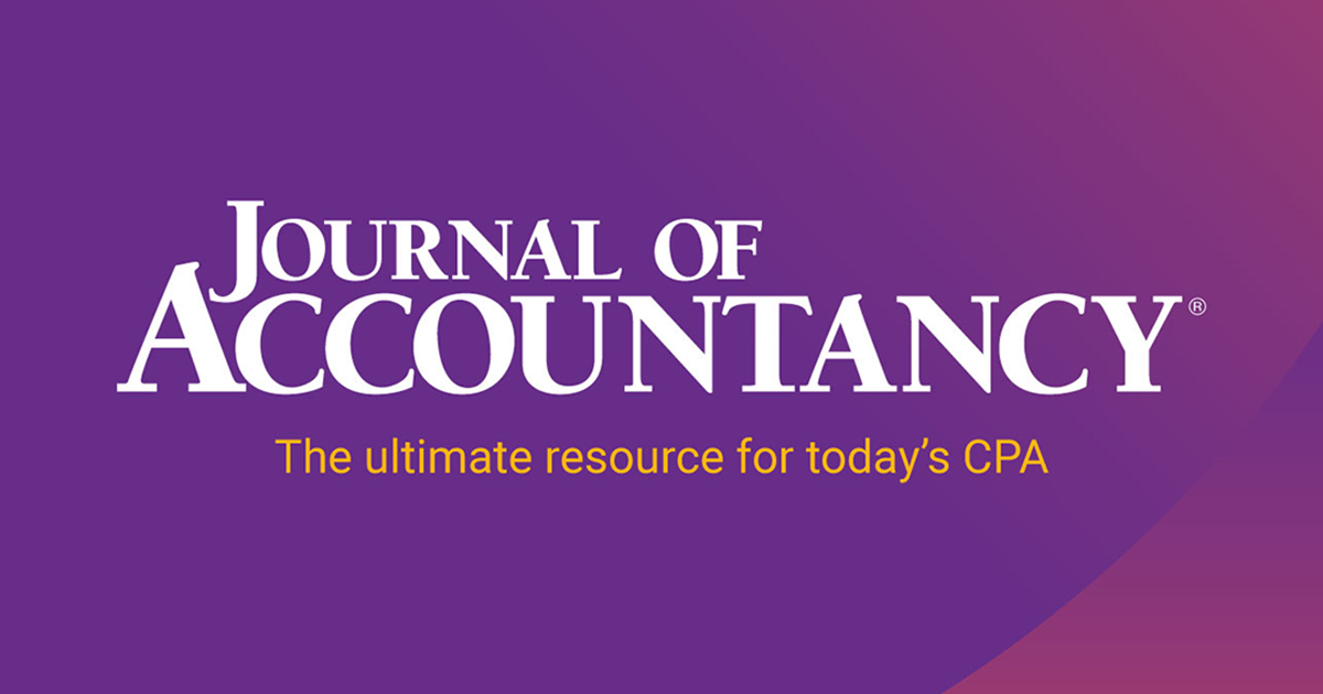Journal of Accountancy - Accounting, tax, auditing news