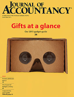 December 2015 Journal of Accountancy