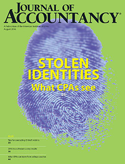 August 2016 Journal of Accountancy