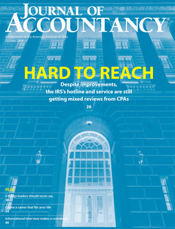 Journal of Accountancy, October 2016
