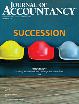 Journal of Accountancy, September 2016