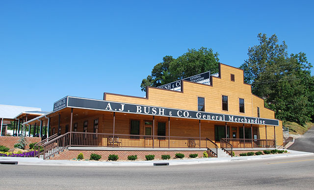 The original A.J. Bush & Co. store, founded in 1897, houses the Bush Brothers visitors center in Chestnut Hill, Tenn.