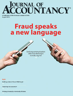 Journal of Accountancy, August 2018