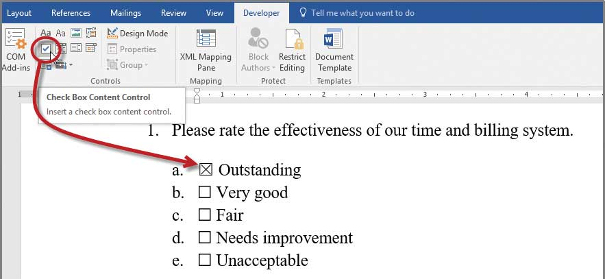 Microsoft Word Developing Checklists In Word Journal Of