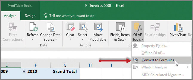 convert your excel pivottable to a formula based report journal of