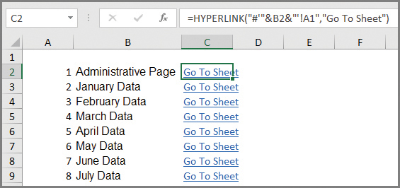 Microsoft Excel Create An Automated List Of Worksheet Names Journal Of Accountancy