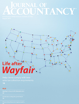 Journal of Accountancy, August 2019