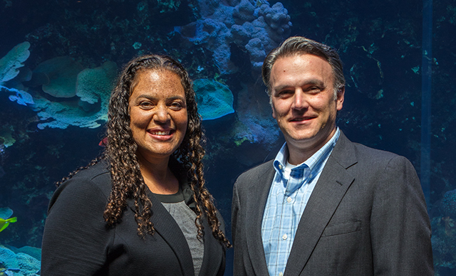 Christina D. Robinson, CPA, and Josh Cherfoli say artificial intelligence and predictive analytics help enhance the visitor experience at Georgia Aquarium in Atlanta.
