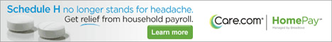 Care.com HomePay  Schedule H no longer stands for headache. Get relief from household payroll.