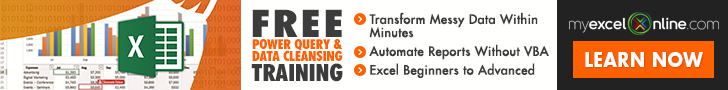 Myexcelonline.com  Free power query and data cleansing training  Learn Now >>