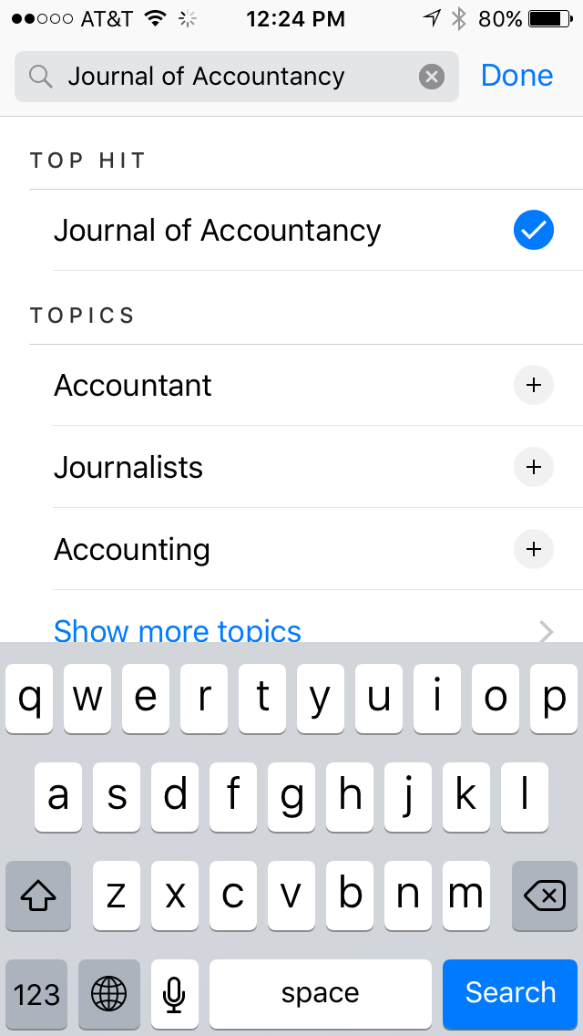 Select Journal of Accountancy