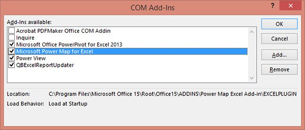 install power view excel 2013