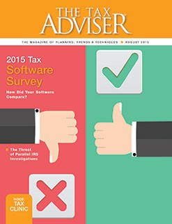 From The Tax Adviser, August 2015