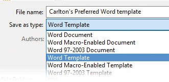 Microsoft Word: The ideal setting