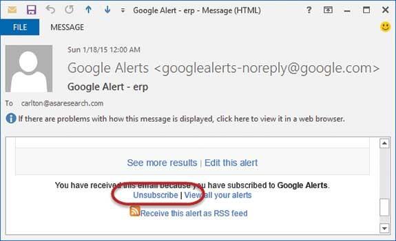 Google Alerts: Don't get alarmed