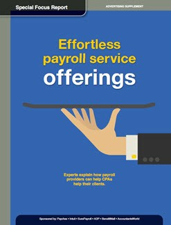 Effortless payroll service offerings