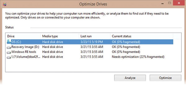 Optimize Drives