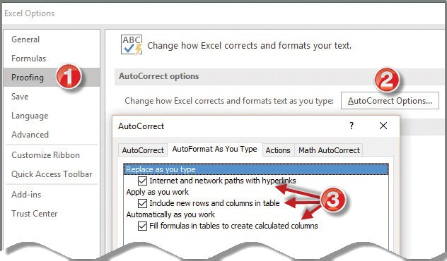 reset excel to default settings 2016