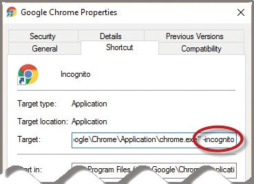 Default Google Chrome to incognito mode - Journal of Accountancy