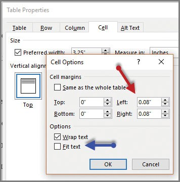 Tricks for typing in Microsoft Word tables - Journal of