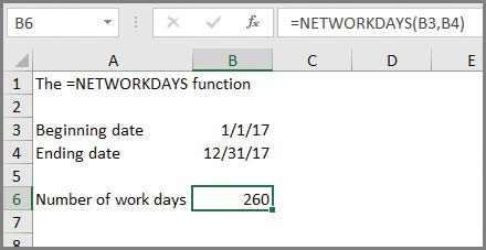 Microsoft Excel: Use Excel to quickly count workdays