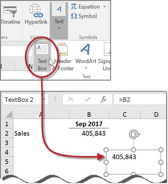 Microsoft Excel: How to link text boxes to data cells - Journal of ...
