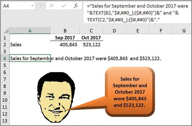 Microsoft Excel: How to link text boxes to data cells