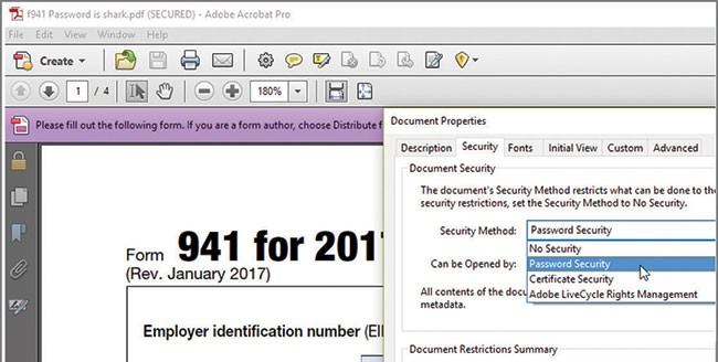 Internet Forms Password Protecting Form 941 Journal Of Accountancy