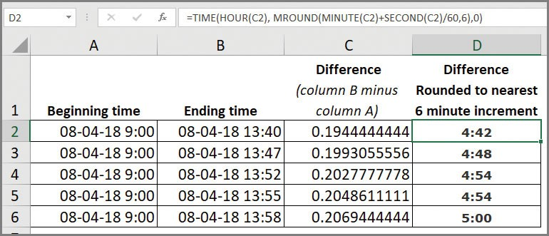 Microsoft Office Rounding Time In Excel Journal Of Accountancy