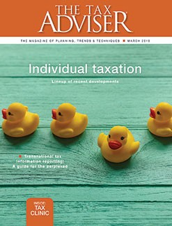 March 2018 The Tax Adviser