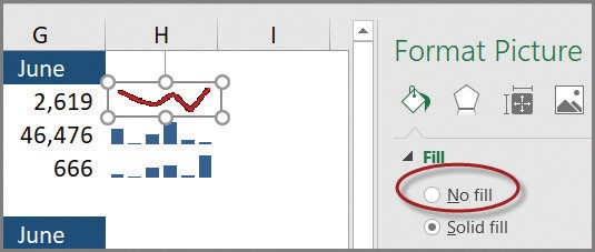 Microsoft Excel: An Excel Camera trick for overlaying sparklines
