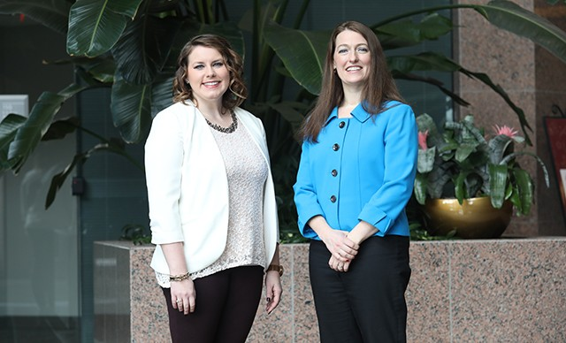 Meaghan Wingbermuehle, CPA, (left) and Stephanie Gandsey say publishing relevant content online has raised the profile of DHJJ, the CPA firm where they work.