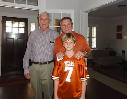 Mark Zyla with his father, Larry, and son, Jack