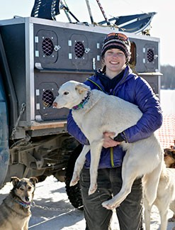 Ryne Olson, who runs a dog-racing team in Alaska, is studying for the CPA exam.
