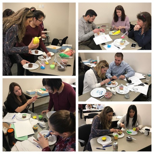 KRS employees explore culinary creativity during the firm's busy season cupcake wars. Photos by Patricia Amato.